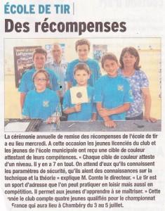 Le Dauphiné Libéré - Article 2015-06-JJ