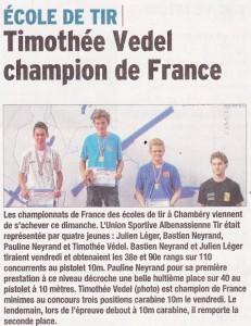 Le Dauphiné Libéré - Article 2015-07-07