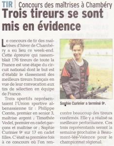 Le Dauphiné Libéré - Article 2015-12-02