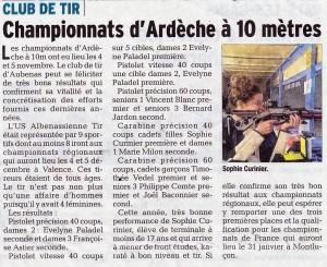 Le Dauphiné Libéré - Article 2016-11-09
