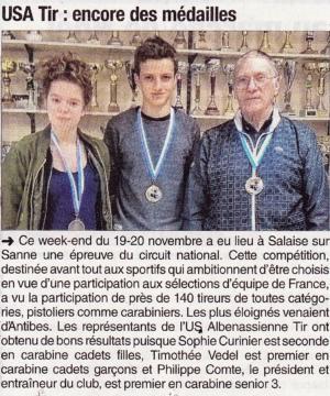 Le Dauphiné Libéré -Article 2016-11-22